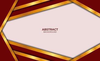 luxe abstract ontwerp rode en gouden stijl vector