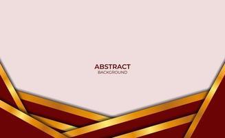 luxe abstracte achtergrond rood en goud vector