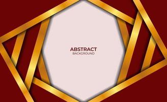 abstract ontwerp rode en gouden achtergrond vector