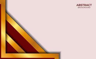 luxe stijl rode en gouden achtergrond vector
