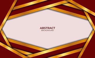 luxe abstracte achtergrond rode en gouden stijl vector