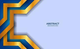 abstract ontwerp blauwe en gouden stijl vector