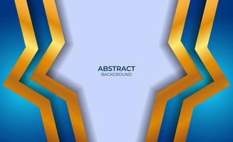 achtergrond abstracte blauwe en gouden stijl vector