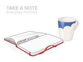 maak elke dag een notitie over de grafische vector van de illustratie