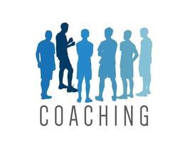 coaching op illustratie grafische vector