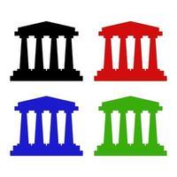 bank ingesteld op witte achtergrond vector