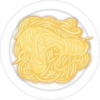 pasta op plaat geïsoleerd vector