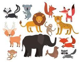 schattige dieren set vector