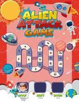 bordspel voor kinderen in de stijlsjabloon van de ruimte