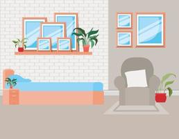 mooie slaapkamer huis scène vector