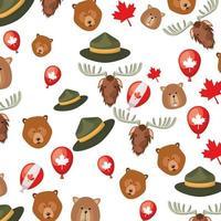 Canada patroon achtergrondontwerp vector