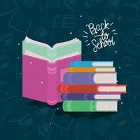 tekstboeken levert terug naar school vector