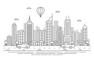 stad skyline illustratie vector