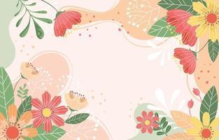 prachtige lente bloemen achtergrond in perzik schaduw vector