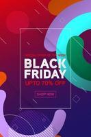 Black Friday super sale alleen vandaag vector