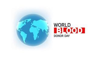 Werelddonordag internationale bewustmakingsevenement poster vector