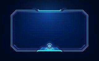 hud, ui, gui futuristische schermelementen van de gebruikersinterface. hightech scherm voor videogames. sci-fi conceptontwerp. vector