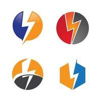 bliksem logo afbeeldingen instellen vector