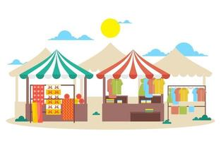 vers fruit groente winkel kraam staan kruidenier in markt illustratie vector