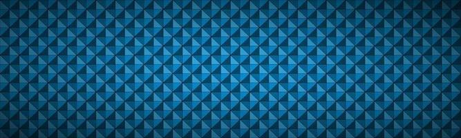blauwe abstracte geweven driehoekige koptekst. moderne veelhoekige geometrische textuurbanner. vector patroon