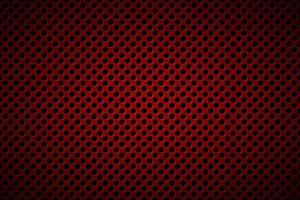 geperforeerde donkerrode metallic achtergrond. abstracte roestvrijstalen banner. eenvoudige vectorillustratie vector