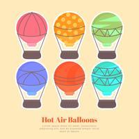 Vector hete lucht ballonnen instellen