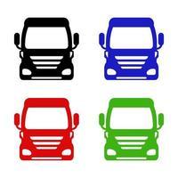 aantal vrachtwagens op witte achtergrond vector