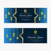 ramadan kareem vector banner