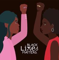 profielfoto van zwarte vrouwen voor zwarte levens is belangrijk vector