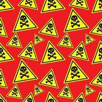 gevaar teken naadloze patroon afbeelding achtergrond vector
