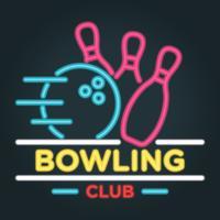 Neon Bowling vectorillustratie vector