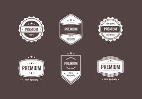 Platte vintage etiketten bruine achtergrond vector