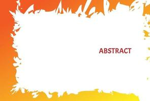 abstract oranje aquarel penseelstreek achtergrond