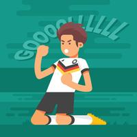 Duitse voetbal tekens illustratie