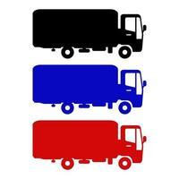 aantal vrachtwagens op witte achtergrond
