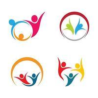 gemeenschapszorg logo afbeeldingen ontwerpset