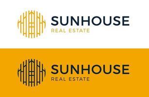 zon huis logo vector