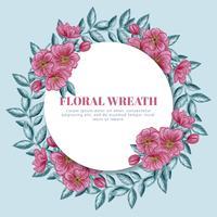 Vector bloemen krans