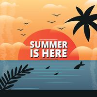 Tropische zomervakantie achtergrond vector