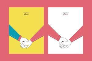 Valentijnsdagillustraties voor kaartenposter of stickers vector