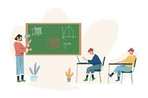 jongeren leren hoe ze uit boeken en internet kunnen leren vector