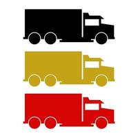 vrachtwagen op witte achtergrond