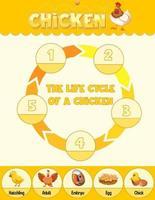 diagram met de levenscyclus van kip vector