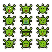 schattige heks karakter strijd tegen virus cartoon vectorillustratie pictogram