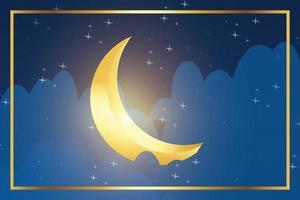 illustratieontwerp om de maand ramadan te vieren vector