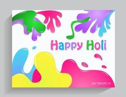 kleurrijke achtergrond gelukkige holi vector