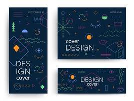 brochures met memphis-ontwerpelementen