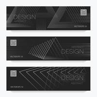 abstract brochures lineair ontwerp