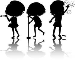 aantal kinderen silhouet met reflex