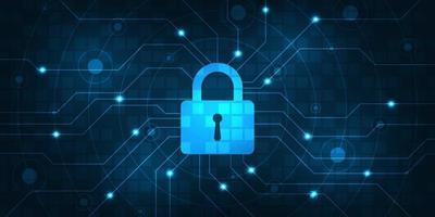 vector achtergrond beveiligd digitaal beveiligingssysteem.